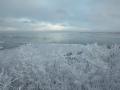 Talveõhtune vaade merele Türisalupangalt.